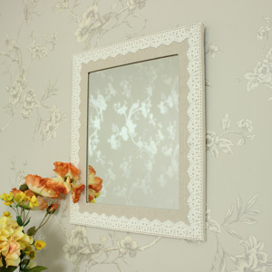Linen and Lace Wall Mirror
