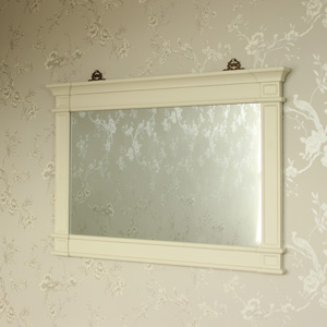 London Range - Cream Over Mantel Wall Mirror