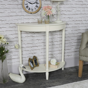 Louella Range - Ivory Half Moon Table