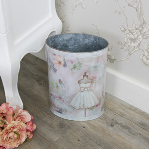 Mannequin Tin Pail/Waste Bin (small)