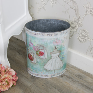 Mannequin Tin Waste Bin (medium)