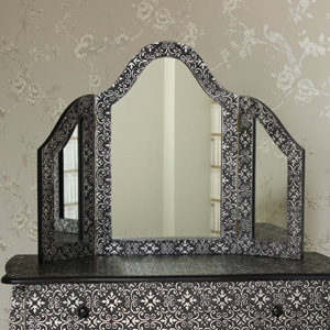 Triple Dressing Table Vanity Mirror - Marrakech Range