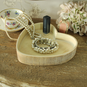 Heart Shaped Wooden Vanity/Drinks Tray