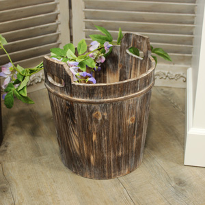 Medium Rustic Wooden Bin