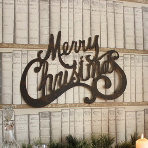 'Merry Christmas' Wall Art