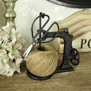 Ornamental Sewing Machine String Dispenser with scissors