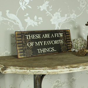 "Metal Wall Plaque ""These are a few......"""