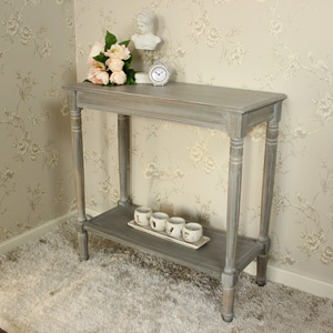 Grey Wooden Console Table - Milan Range