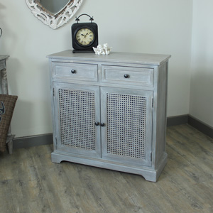 Milan Range - Grey 2 Drawer 2 Door Unit