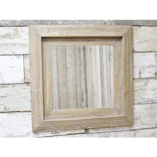 Large Square Wall Mounted Rustic Wall Mirror 77cm x 77cm