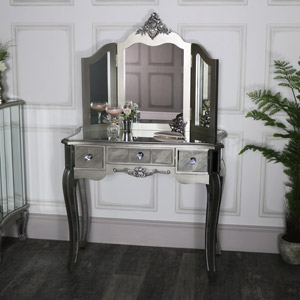 Mirrored Dressing Table and Vanity Mirror - Tiffany Range