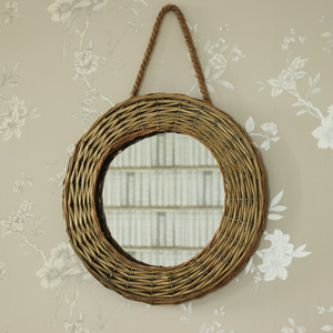 Natural Wicker Round Wall Mirror