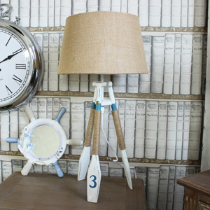 Nautical Oar Tripod Table Lamp