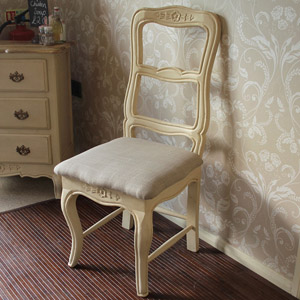 Normandy Range - Cream Padded Chair