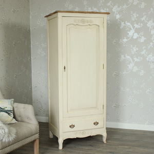Cream Single Wardrobe - Normandy Range