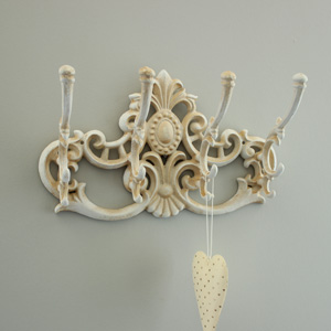 Ornate Antique Cream Coat Hook