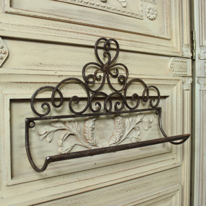 Ornate Metal Towel Rail