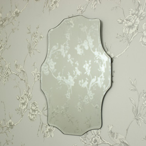 Ornate Shaped Vintage Bevelled Wall Mirror