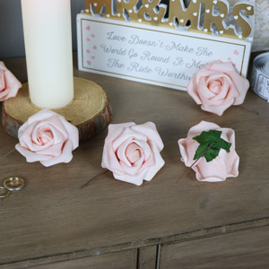 Pack of 12 Pink Paper Roses