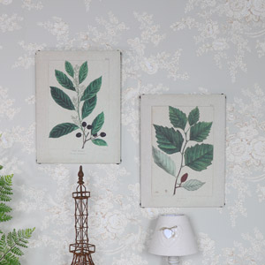 Pair of Botanical Leaf Prints