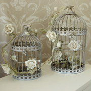 Pair of Grey Bird Cages