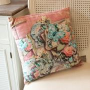 Pink Flora and Fauna Cushion