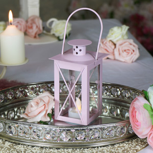 Pink LED Candle Lantern
