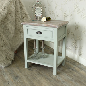 Portsmouth Grey Range - One Drawer Bedside or Lamp Table