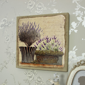 Potted Lavender Canvas Picture