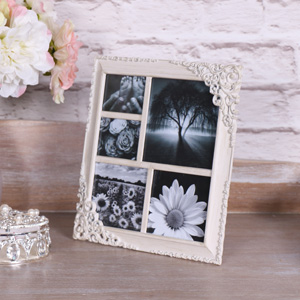 Pretty Cream Multi Frame Photograph Frame