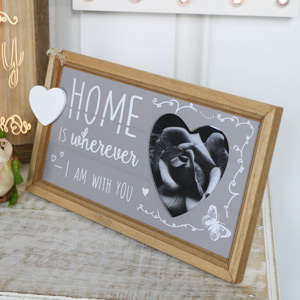 Pretty Heart Freestanding Photograph Frame