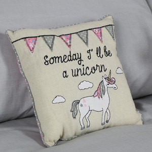 Pretty Little Cushion 'Someday I'll Be a Unicorn'