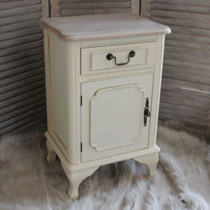 Provence Cream Range - Cream Right Hand  Bedside Cabinet