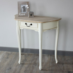 Provence Cream Range - Half moon table