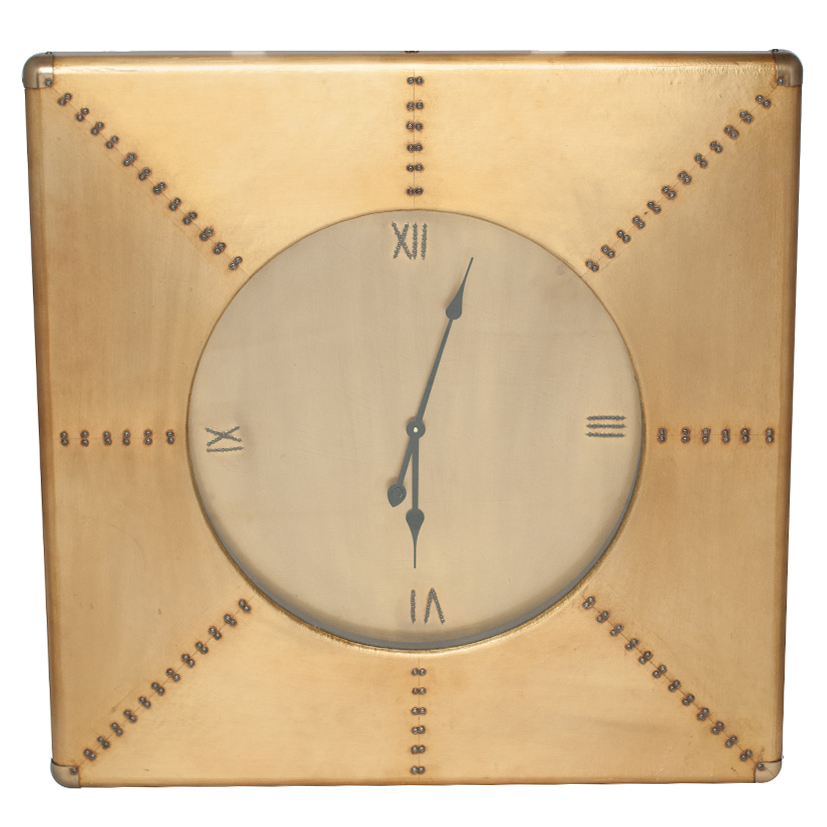 Quinton Range - Brass Squared Wall Clock