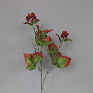 Red Berry faux flower Stem