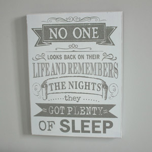 'Remember The Nights' Wall Plaque