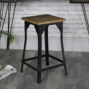 Retro Industrial Bar Stool