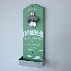 Retro Wall 'Lemonade' Mounted Bottle Opener