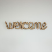 Nautical Rope Wall Hanging Welcome Sign