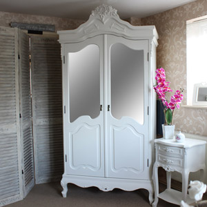 Rose Range - Ivory Mirrored Double Wardrobe