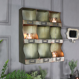 Rustic Metal Industrial Wall Unit