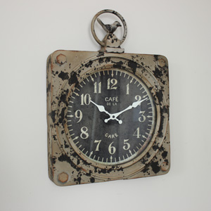 Rustic Metal Wall Clock