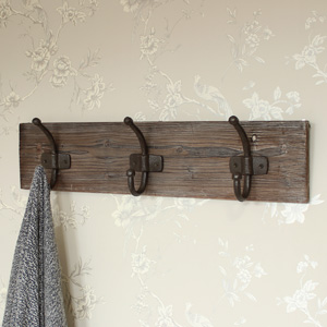 Rustic Wall Mounted Iron Coat Hooks