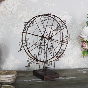 Rustic Wire Metal Ornamental Ferris Wheel