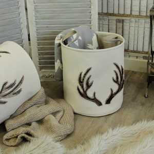 Set of 2 Antler Baskets
