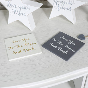 Set of 2 Vintage Chic 'Love' Coasters