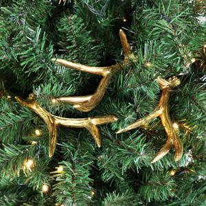 Set of 3 Gold Antler Pick Decorations