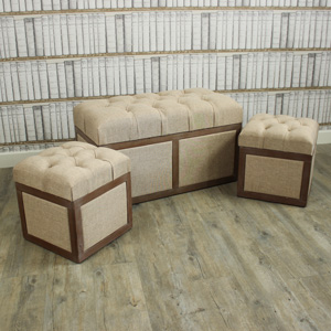 Set Of 3 Storage Trunks/Ottomans/Blanket Boxes