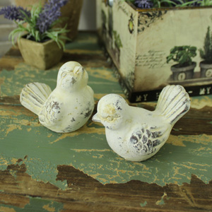 Set of Two Garden Bird Ornaments